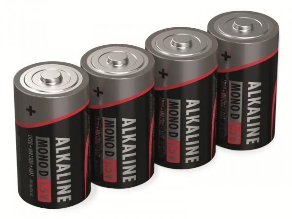 Alkalibatterien, Typ C, 1,5 V, 4 Stück (Aussehen kann variieren)