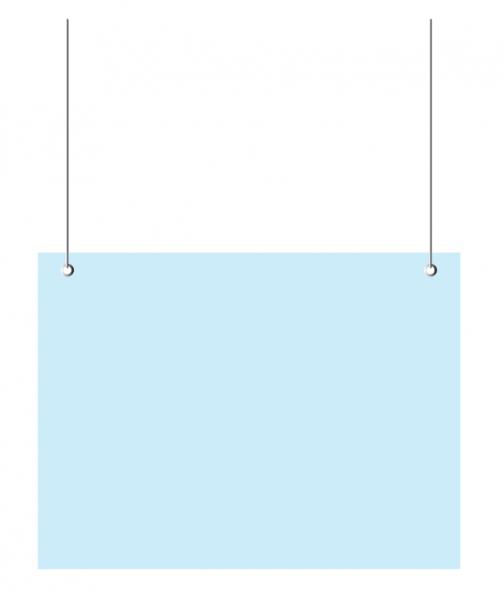 Husten- und Niesschutz: Acrylplatte zum Aufhängen