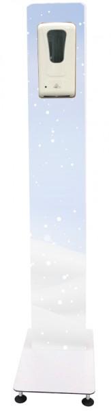 """Blende """"Schneeflocken"""" für Desinfektionssäule mit Sensor-Spender"""