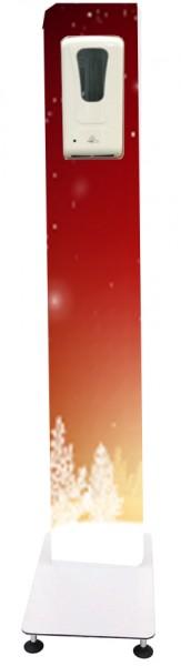 """Blende """"""""Baum rot"""" für Desinfektionssäule mit Sensor-Spender"""